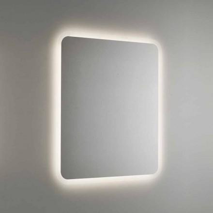 Zaokrąglone lustro łazienkowe z podświetleniem LED Made in Italy - Pato