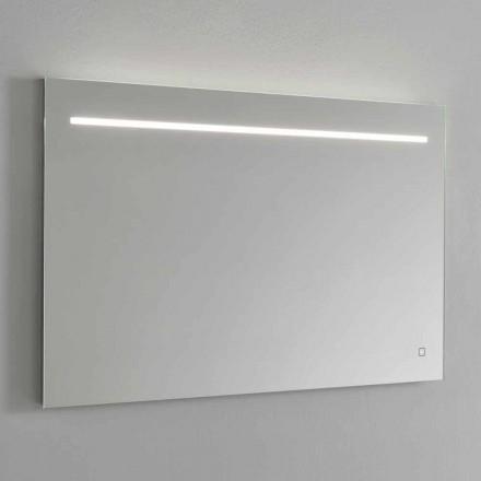 Nowoczesne lustro ścienne ze światłem LED i stalową ramą Made in Italy - Yutta