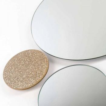 Modeno okrągłe lustro ścienne wykonane we Włoszech ADDO
