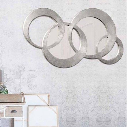 Okrągłe lustro ścienne design model  Ball Silver