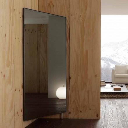 Lustro ścienne z otwieranymi drzwiami i wieszakami na ubrania Made in Italy - Boro