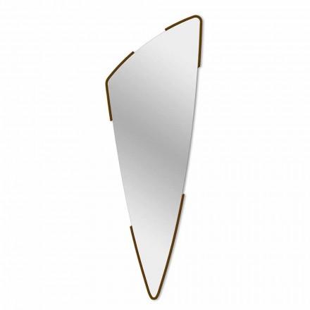 Dekoracyjne lustro ścienne o nowoczesnym designie w 4 kolorach Made in Italy - Spino