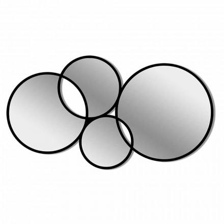 Nowoczesna kolorowa ramka w kształcie lustra ściennego - synteza