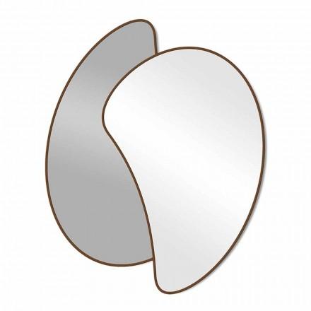 Duże designerskie lustro ścienne z nowoczesną kolorową ramą - Mantra