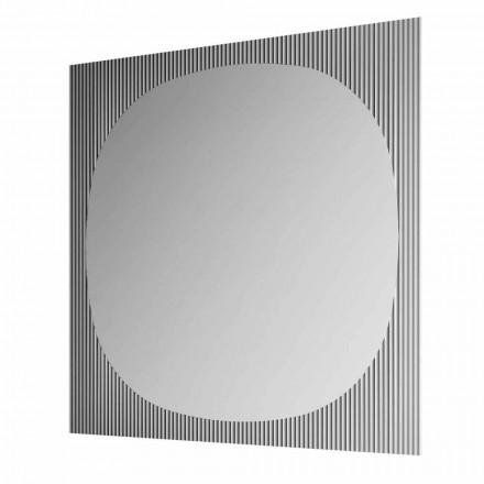 Nowoczesne kwadratowe lustro ścienne w smokey kolor Made in Italy - Bandolero