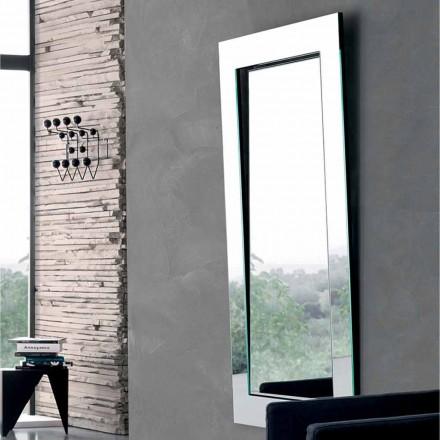 Prostokątne lustro ścienne z pochyłą ramą Made in Italy - Salamina