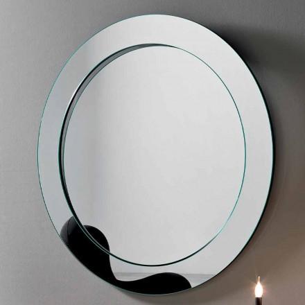 Okrągłe lustro ścienne z pochyłą ramą Made in Italy - Salamina