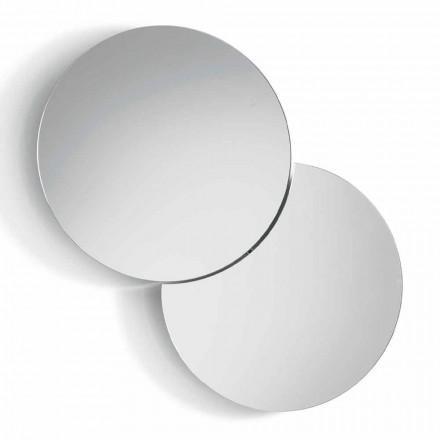 Okrągłe lustro ścienne z satelitą, które obraca się o pełne 360 ° Made in Italy - Shaki