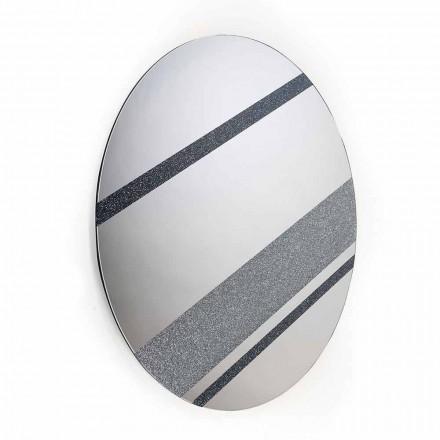 Okrągłe lustro ścienne o nowoczesnym wyglądzie 100% Made in Italy Athos