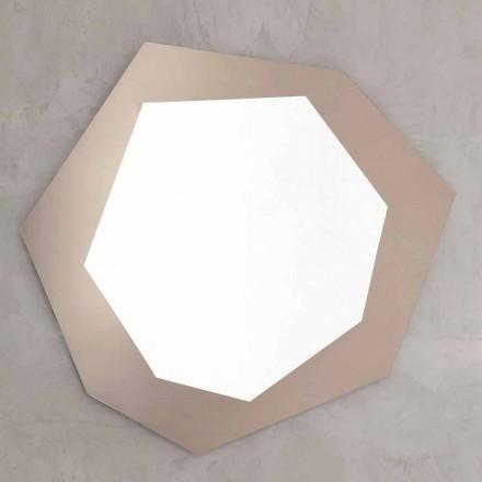 Lustro ścienne w kształcie ze szklaną ramą Made in Italy - chlor