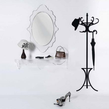 Radosne przezroczyste lustro ścienne wykonane we Włoszech