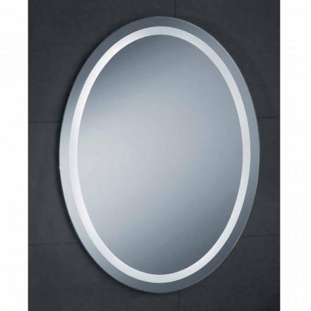 Nowoczesny design lustra z oświetleniem LED Pura
