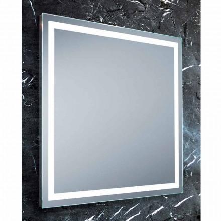 Nowoczesny design lustra łazienkowego z oświetleniem LED Paco