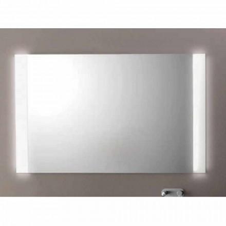 Nowoczesne lustro łazienkowe z oświetleniem LED, L1200xh.900 mm, Agate