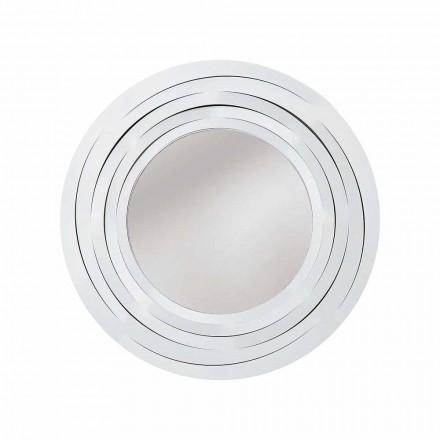 Nowoczesne okrągłe lustro ścienne z kolorowego żelaza wyprodukowane we Włoszech - Oregano