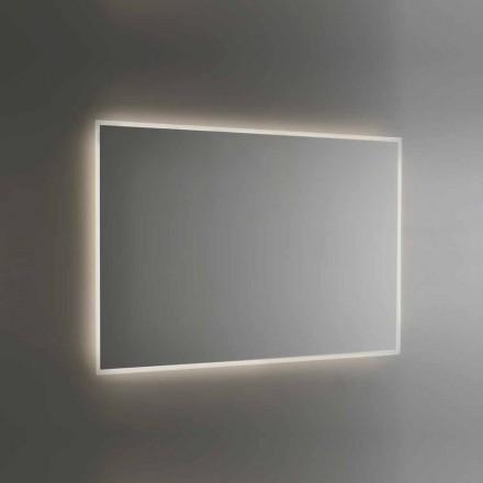 Podświetlane lustro łazienkowe z piaskowaną ramą Made in Italy - Floriana