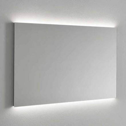 Lustro ścienne z podświetleniem LED, stalowa rama Made in Italy - Tundra
