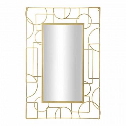 Prostokątne, nowoczesne żelazne lustro ścienne - Pliniusz