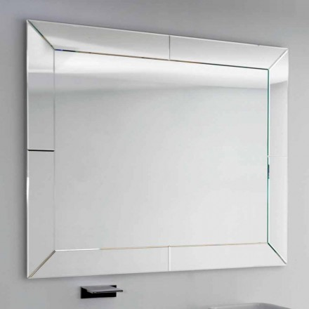 Zroszony lustro o nowoczesnej krawędzi, H120 x L120cm, Dedalo