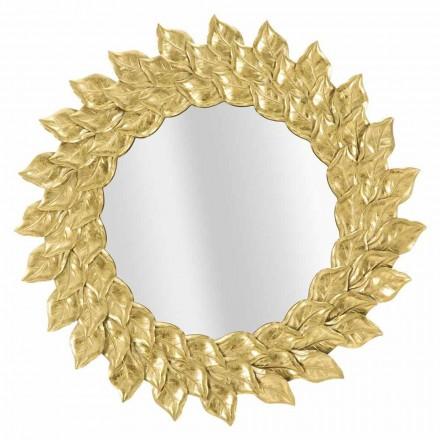 Okrągłe lustro ścienne o nowoczesnym designie z żelazną ramą - Seneca