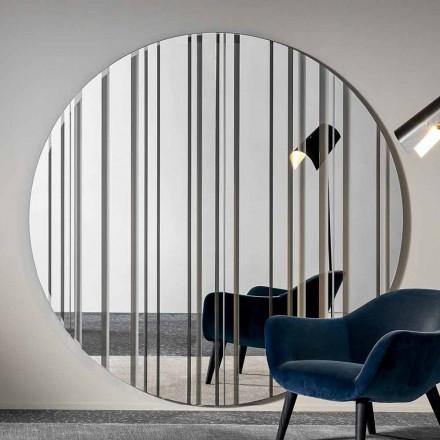 Okrągłe lustro ścienne o średnicy 200 cm Made in Italy - Coriandolo