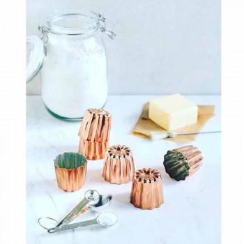 6 sztuk ręcznie cynowanych miedzianych foremek do ciasta - Gianvito
