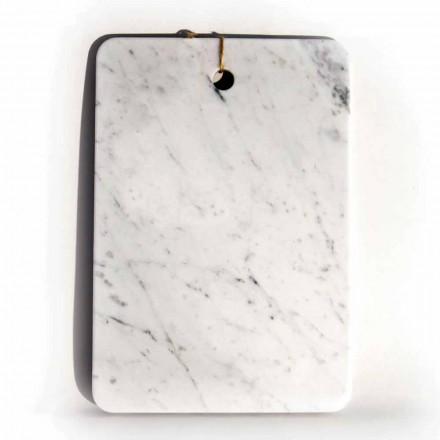 Deska do krojenia wykonana we Włoszech z białego marmuru Carrarra - Masza