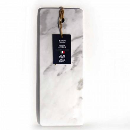 Prostokątna deska do krojenia z białego marmuru z Carrary Made in Italy - Masza