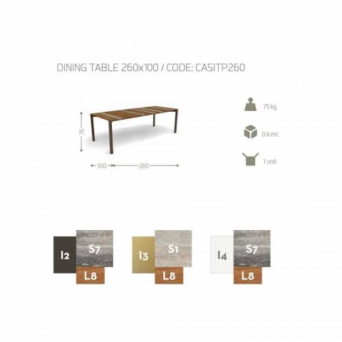 Talenti Casilda to stół ogrodowy L260xH76cm wykonany we Włoszech