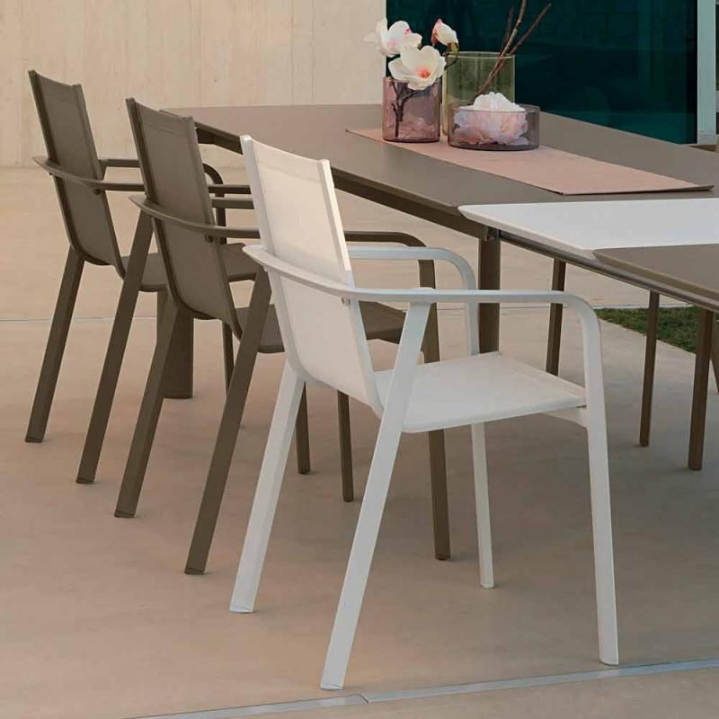 Aluminiowe krzesło ogrodowe Talenti Milo wykonane we Włoszech