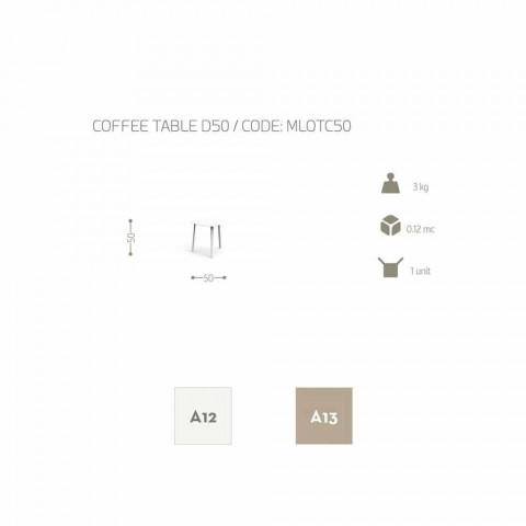 Aluminiowy stolik kawowy Talenti Milo, wykonany we Włoszech, o wys. 50 cm