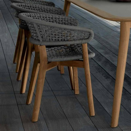 Talenti Moon krzesło z naturalnego drewna tekowego do ogrodu design