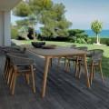 Talenti Moon stół ogrodowy z drewna tekowego design made in Italy