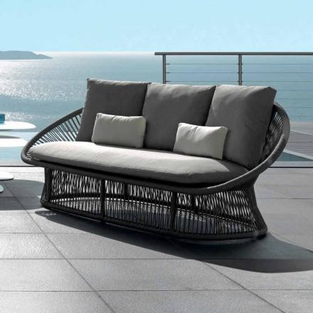Talenti Rope sofa ogrodowa z aluminiową strukturą made in Italy