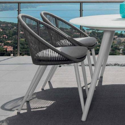 Talenti Rope krzesło ogrodowe z aluminiową strukturą made in Italy