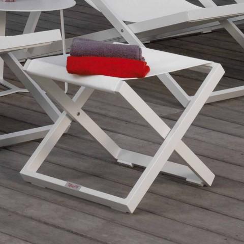 Aluminiowa pufa ogrodowa Talenti Touch wykonana we Włoszech