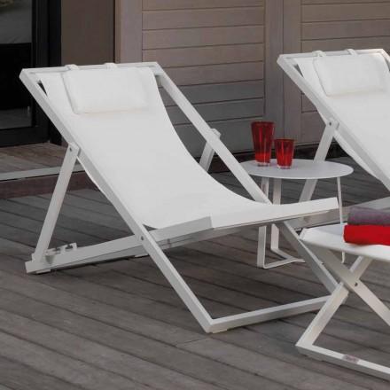 Talenti Touch krzesło/leżak ogrodowy design z aluminium made in Italy