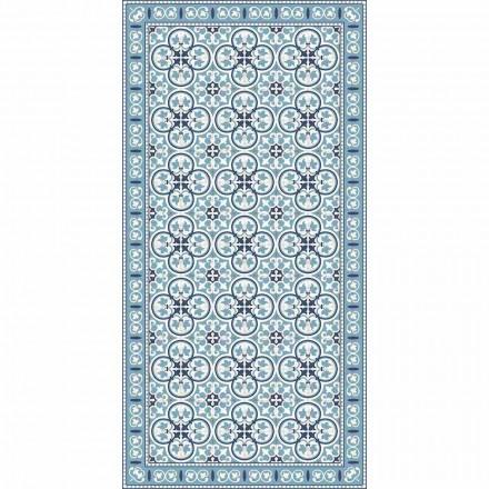 Nowoczesny wzorzysty dywan kuchenny z PVC i poliestru - Lindia