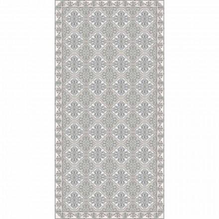 Nowoczesny dywan do salonu z fantazją majoliki w prostokątnym winylowym kolorze - Costa