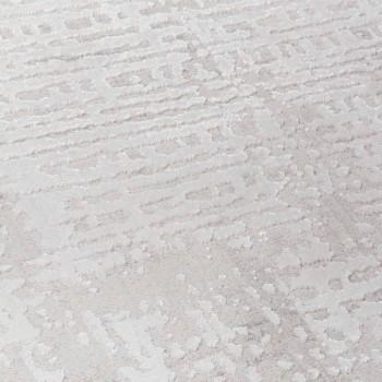 Dywan designerski o beżowym wzorze z poliestru i wiskozy - Occitania