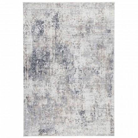Design Beżowy dywan z rysunkiem wiskozy i poliestru - Occitania