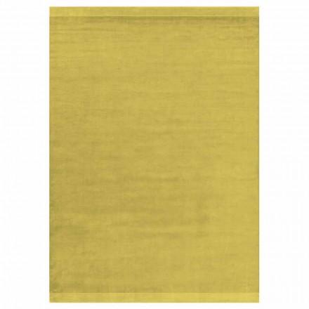 Nowoczesny, kolorowy i duży dywan z jedwabiu i wełny z paskiem - mieszanka