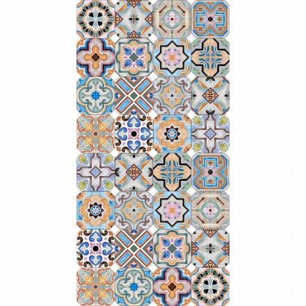 Nowoczesny dywan z kolorową majoliką do salonu - Calor