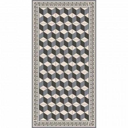 Nowoczesny dywan do salonu z PVC i poliestru z geometrycznym wzorem - Romio