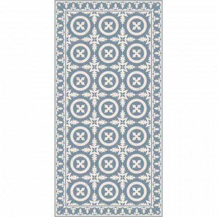 Nowoczesny dywan do salonu w kolorze beżowym lub niebieskim fantasy - Bondo