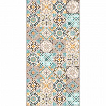 Nowoczesny prostokątny i kolorowy dywan winylowy do salonu - Frisca