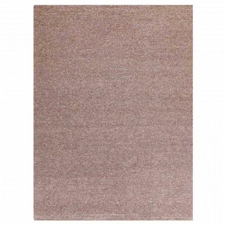 Prostokątny dywan nowoczesny design z jedwabiu i brązu lub kremowej bawełny - Kuta