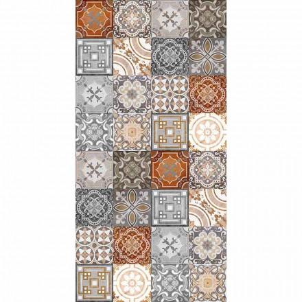 Prostokątny dywan winylowy z nowoczesną Revisited Vintage Fantasy - Dimetra