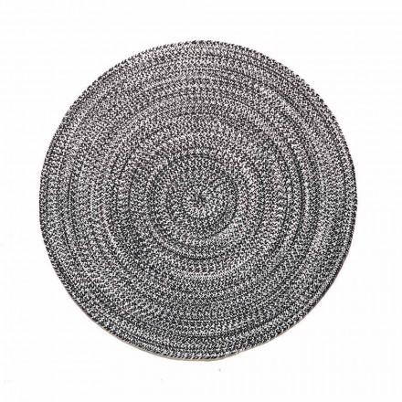 Nowoczesny okrągły dywan do salonu z ręcznie tkanej bawełny - Redondo
