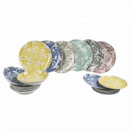 Serwis stołowy w kolorze porcelany 18 sztuk - Pizzotto